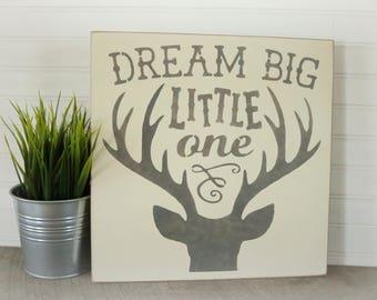 Wood Nursery Sign- Deer Head- Nursery Sign- Rustic