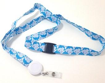 Dolphin Lanyard - ID Holder - Badge Reel