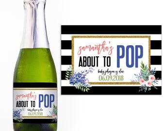 Baby Shower Mini Champagne Label - Custom Champagne Label - Personalized Champagne Label - Baby Shower Mini Champagne