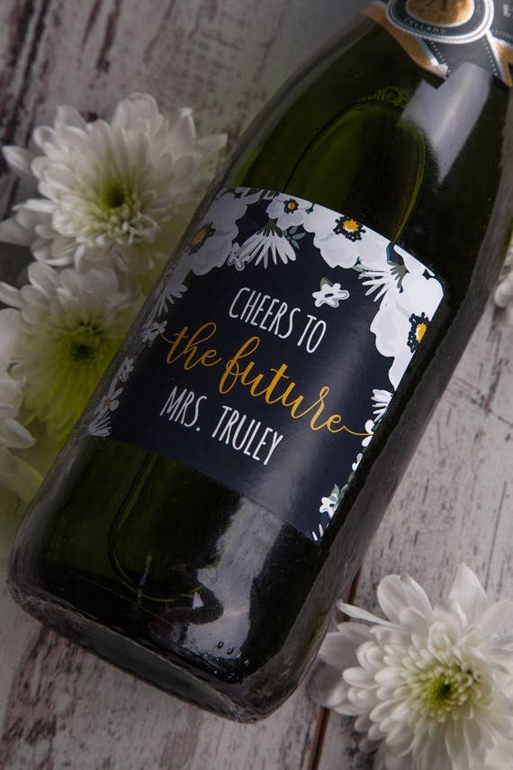 wedding champagne label custom champagne label personalized