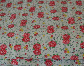Vintage Rosies and Posies Cotton Fabric