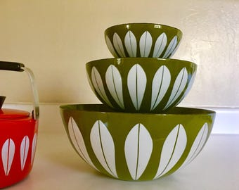 Cathrineholm Green Lotus Bowl Set