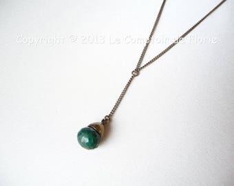 DESTASH Choker with Emerald drop