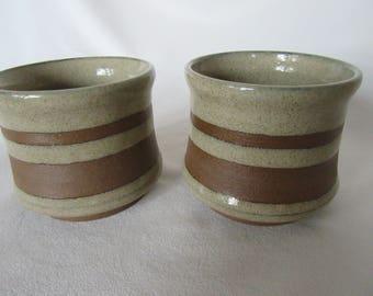 Sake Cups - Dessert Bowls - Espresso Cups - Stoneware - Pair