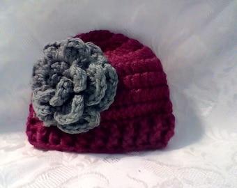 Newborn flower Hat