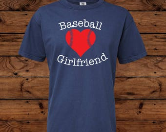 Baseball Girlfriend Comfort Colors - Baseball Girlfriend - Baseball Shirt - Girlfriend Shirt - Sports Team - High School Baseball - Glitter