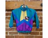 Vintage Children's Nike Air colorblock windbreaker jacket size 5