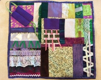 Fidget Quilt / Sensory Blanket - Hyacinth Fields