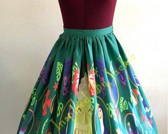 Enchanted Tiki, Border Print Full Skirt