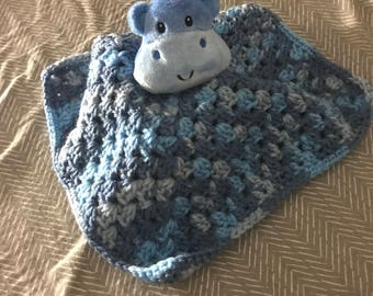 Crochet Hippo Lovey for Baby