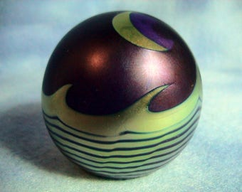 Correia Art Glass Paperweight Signed and Numbered, Free Shipping (138)