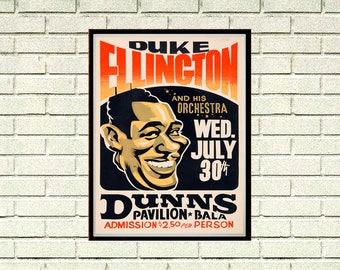 Reprint of a Duke Ellington Concert Poster