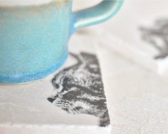 TABBY CAT natural stone coaster & EMMA BRIDGEWATER Various natural stone platters Mothers Day