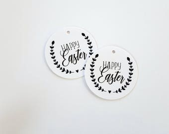 Happy Easter Gift Tags | Laurel Wreath Easter Tags | Easter Class Gift