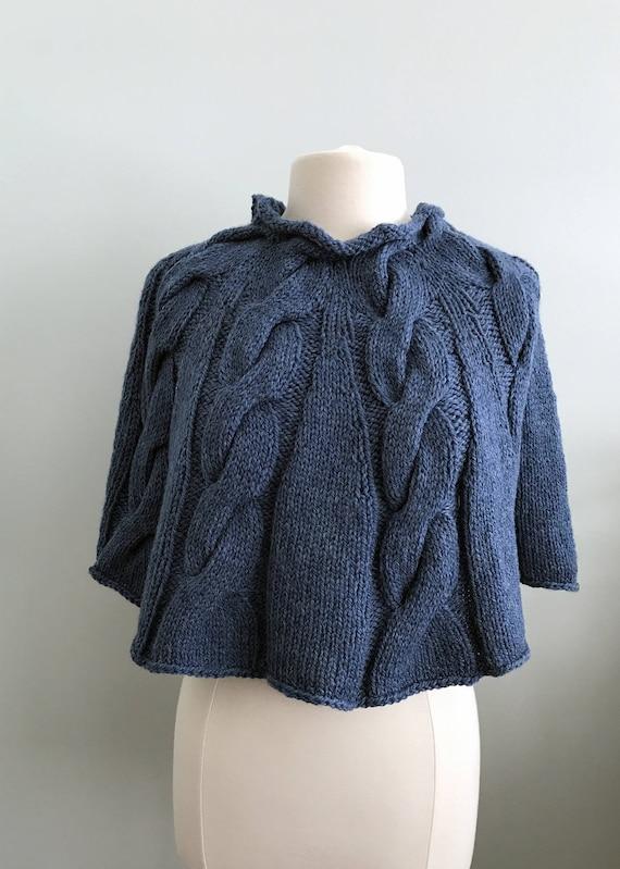 Knitting Pattern Poncho Bulky Yarn : Poncho Knitting Pattern, Bulky Yarn from WomanOnTheWater ...
