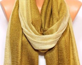 Gold Mustard Scarf Shawl Fall Winter Fashion Holiday Fashion Hijab Turban Fringed Shawl Scarf Women's Fashion Accessories Gift Ideas For Her