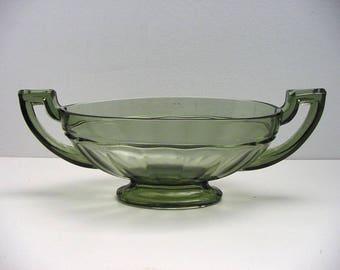 art deco Val St Lambert bowl, oval shaped Romeo