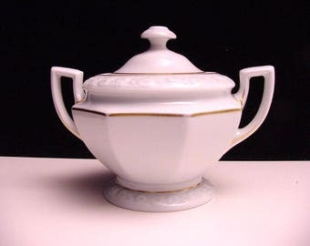 antique Rosenthal sugar bowl, pattern Maria Weiss (Maria White)