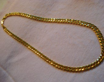 """MIRROR SHINE Men's 20"""" Gold Plated Chain by my DAD Father's Day Gift #332"""