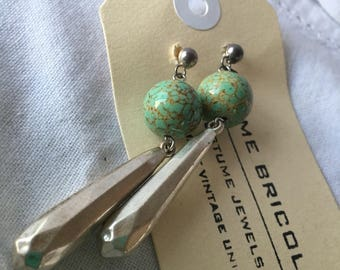 Hubbell beads with silver drop earrings