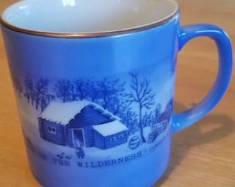 A Home in the Wilderness Currier and Ives Mug