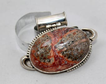 Rose Jasper and Sterling Silver Gemstone Pendant