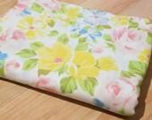 Vintage Sheet - Uncut TWIN Size Flat Sheet - Bright Multi Floral