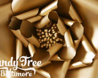 "Gold paper flower/Black giant paper flower/Beige large paper rose/Wall decor flower/Oversized paper flower/Gold paper flower ""POPULAR"""