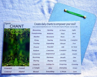 Spirit Affirmation Kit, Magnetic Affirmation with Hanging Board, Spirit Empowerment Gift, Affirmation Mangets, Confidence Gift, I AM LIGHT