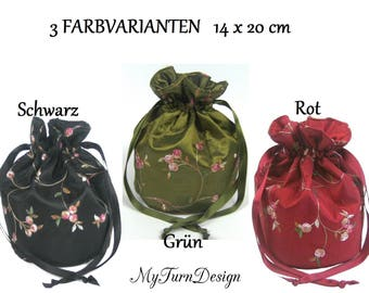 Pompadour, bag, evening bag, Dirndl bag costumes, Oktoberfest, historical costume, dance night, festive, wedding, bridesmaid