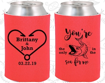 Tangerine Wedding, Tangerine Can Coolers, Tangerine Wedding Favors, Tangerine Wedding Gift, Tangerine Party Favors (254)