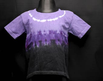 Tie Dye Kids T-Shirt, Trippy Children's Top, Cute Purple Hippie Toddler Tee