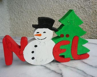 Puzzle snowman Christmas craftsmanship