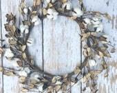 Rustic Cotton Wreath, Sou...