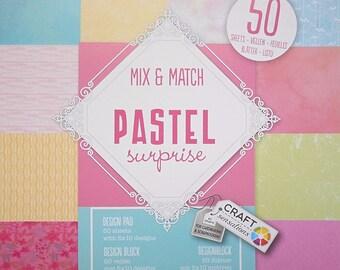 """Block 50 sheets 15 x 15 cm """"Pastel surprise"""" scrapbooking"""