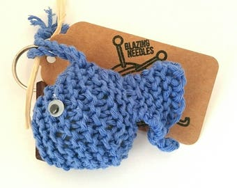 Fish keyring, knitted fish keyring, fish gift, fish accessory, fish keychain, gift for fish lover, keyring for her, keyring for him