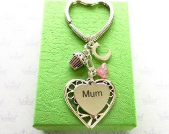 Personalised mum keyring - Birthday gift for mum - Mother's Day gift - Muffin keyring - Baking gift for Mum - Muffin keychain - Etsy UK