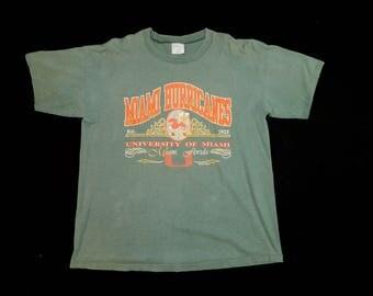 Vintage University of Miami Hurricanes T-shirt