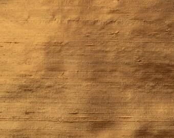 "Buckskin 1035 -  56 "" Pure Silk Dupioni Fabric - Handwoven  - 54"" Wide"