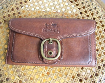 Vintage Coach Leather Wallet Combo Accessory Item
