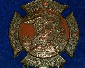 Medal Indiana National Guard medal marked 868 1818