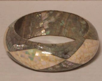 Fabulous Mosaic Mother of Pearl Bracelet