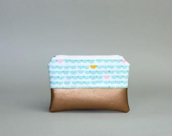 Mini bag-Mint wave Kuper-cosmetic bag-pencil-makeup bag-Make up bag-case-small bag-purse-vegan SAC