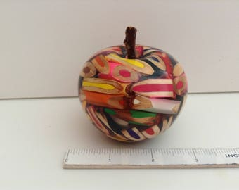 Absolutely Fabulous..... Hand Turned  Coloured Wooden Pencils and Resin Apple....Please Check Out Sections....Wood Fruit and Bowls....