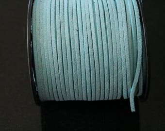 5 meters of light blue faux suede. (ref:1064).