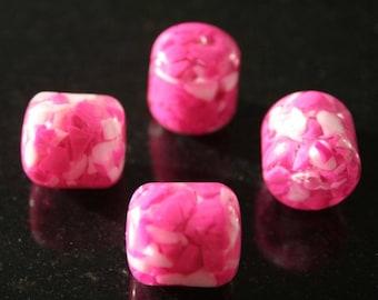 Set of 2 Pearl resin. (ref:2386).