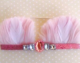 Pink bear ears - headband