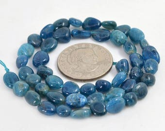 0711 Natural Apatite pebble Chips loose gemstone beads 16""