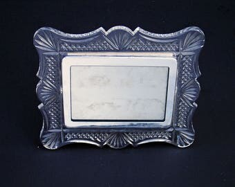 Waterford Clear Crystal and Chrome 3.5 X 5 Picture Photo Frame