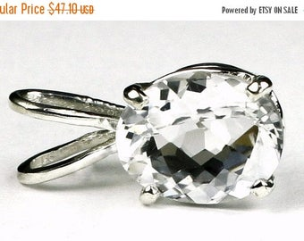 On Sale, 30% Off, Silver (White) Topaz, 925 Sterling Silver Pendant, SP002